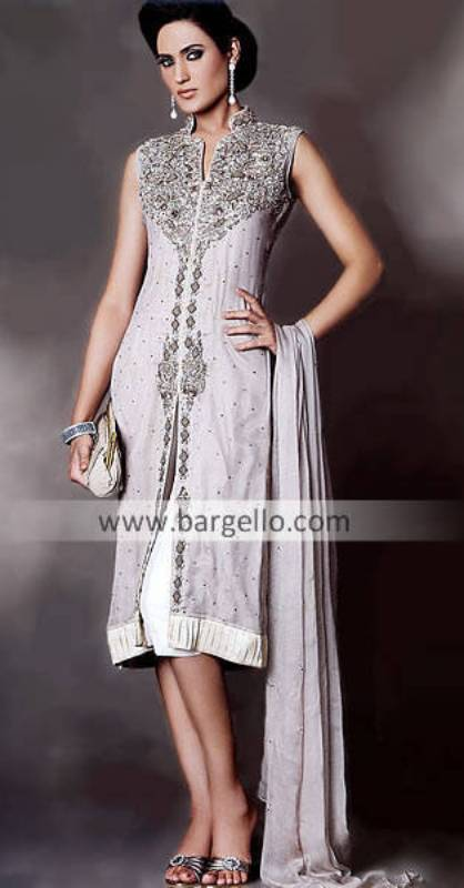 Chiffon Dress, Cropped Trouser, Embroidered Dress, Pakistan Fashion Week 2010 Outfits