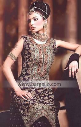 Pakistani & Indian Bridal, Ethnic Gharara, Sharara, Choli, Lehnga Wedding Dresses