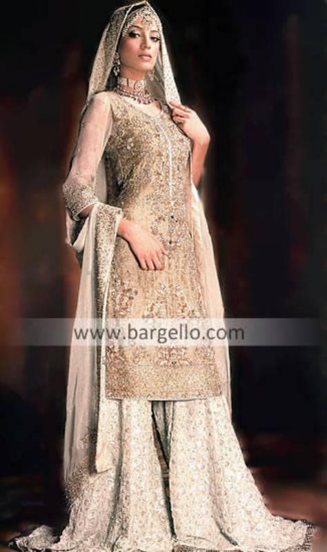 Indian Bridal Dresses Banarsi Jawamawar Sharara online uk usa canada