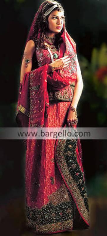 Pakistani Bridal Lehenga Jamawar A-line Skirt Pakistan for Brides UK USA Canada Australia