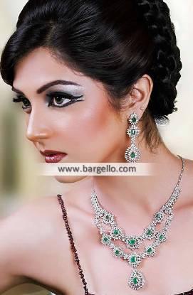 Emerald Zircons Artificial Jewellery Sets Vestal New York NY US