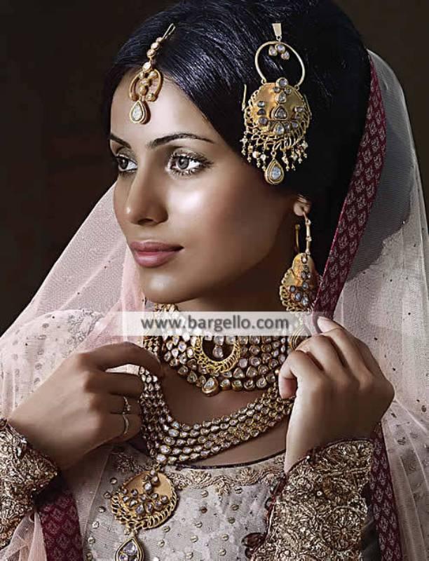 Gold Plated Pakistani Bridal Kundan Jewellery Sets Kew Garden New York NY USA