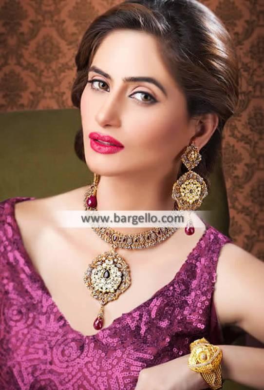 Latest Kundan Zircon Wedding Jewellery Crystal Bead Jewelry Sets Oak Tree Road New York NY US