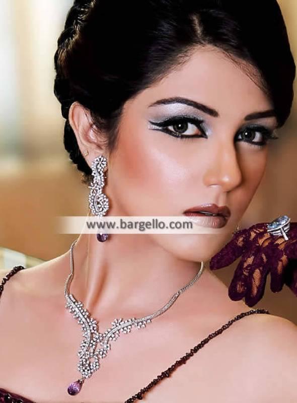 Rhodium Plated Pakistani Party Jewellery Sets Matawan New Jersey NJ US