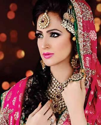 Fuchsia Stone Polki Meena Kundan Bridal Jewellery Jewelry Sets Madison Heights Michigan MI US