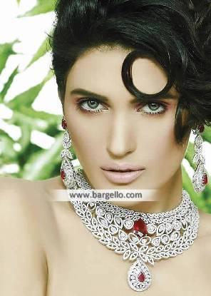 Rhodium Plated Zircon Jewellery Sets Dallas Texas TX US