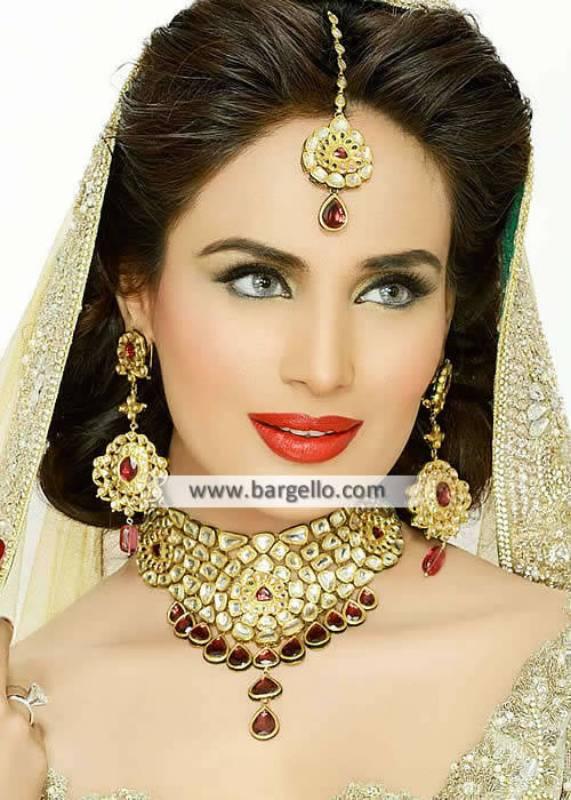 Kundan Jewellery Pakistani Bridal Jewelry Sets Matawan New Jersey NJ US