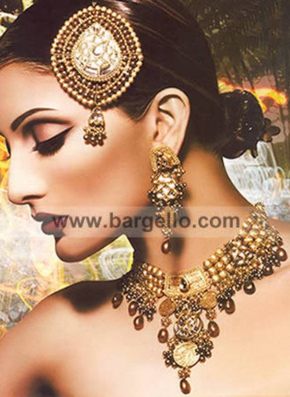 Pearls and kundan designer jewellery jewelry set USA, Online Store