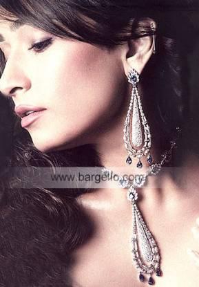 Zircons diamond-like jewlry Zircons Rhodium Plated Jewelry Jewellery Online