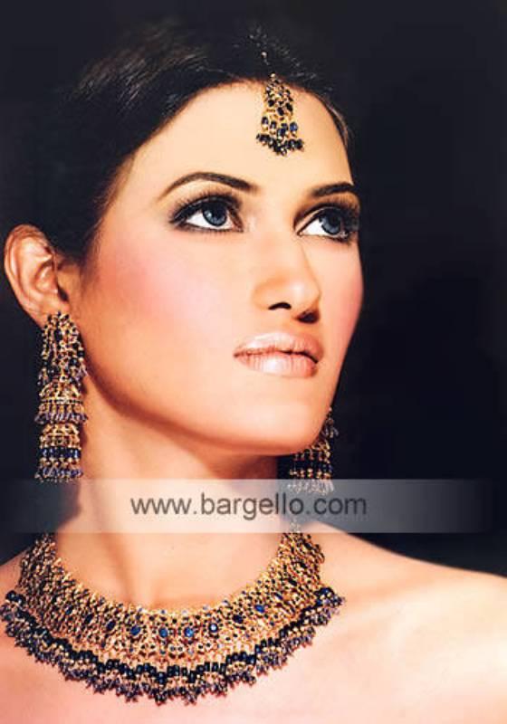 Noratan Sapphire Jewellery Set Jewelers at Tariq Road Karachi