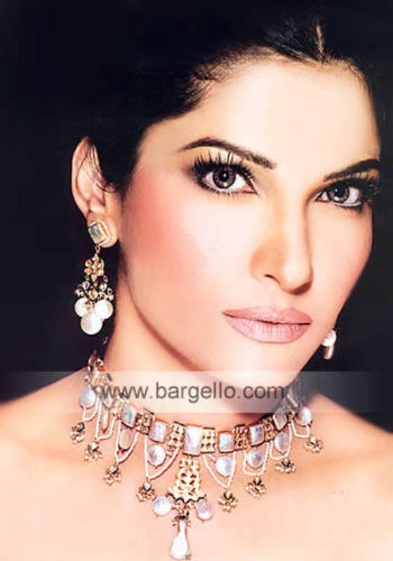 Mother of pearls setting kundan online jewellery retailers in London