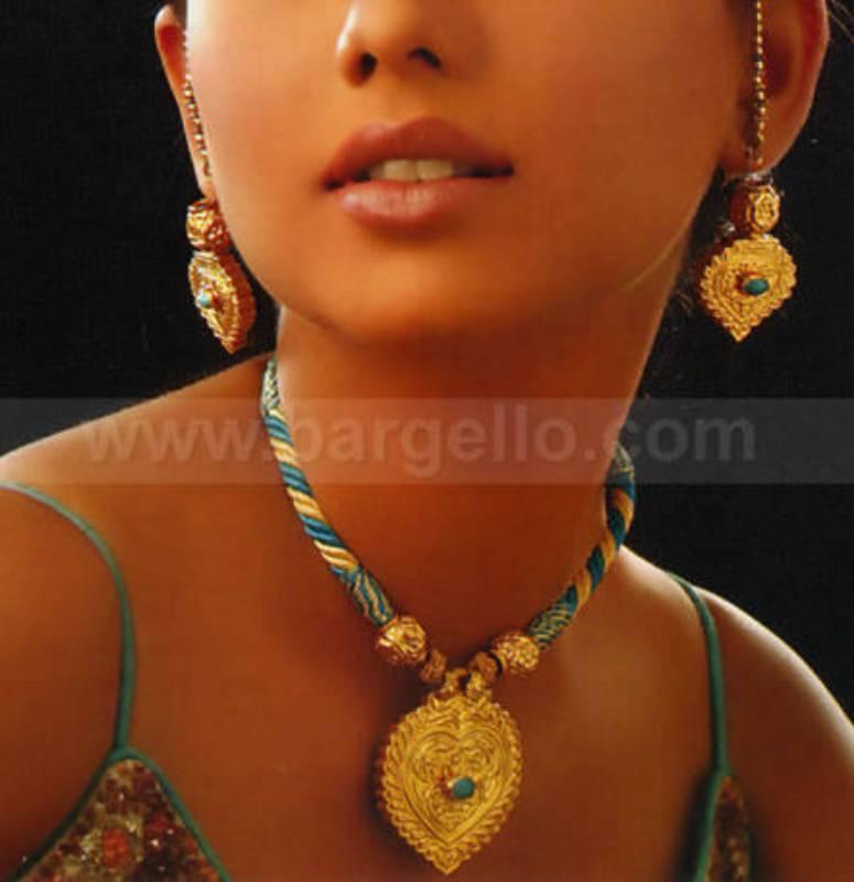Rajasthani Kundan Jewellery Set Lac Pendant