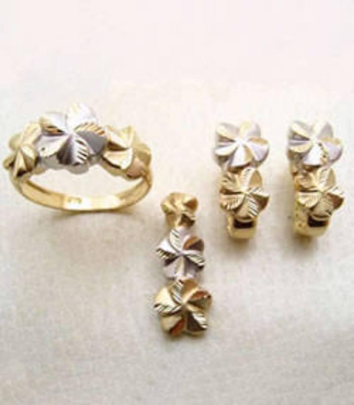 Rhodium and 24kt Gold Plated Gunga Jumna Jewelry