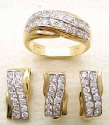Cubic zirconia zircons pakistani jewellery designs