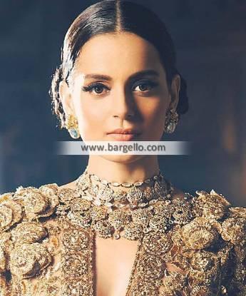 Mughal Style Choker Jewellery Set Artificial Indian Bridal Jewellery Sets