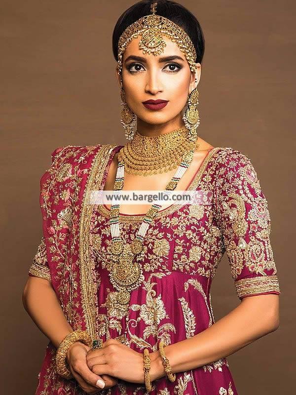 Traditional Pakistani Bridal Choker Sets Bridal Jewellery UK USA Canada Australia
