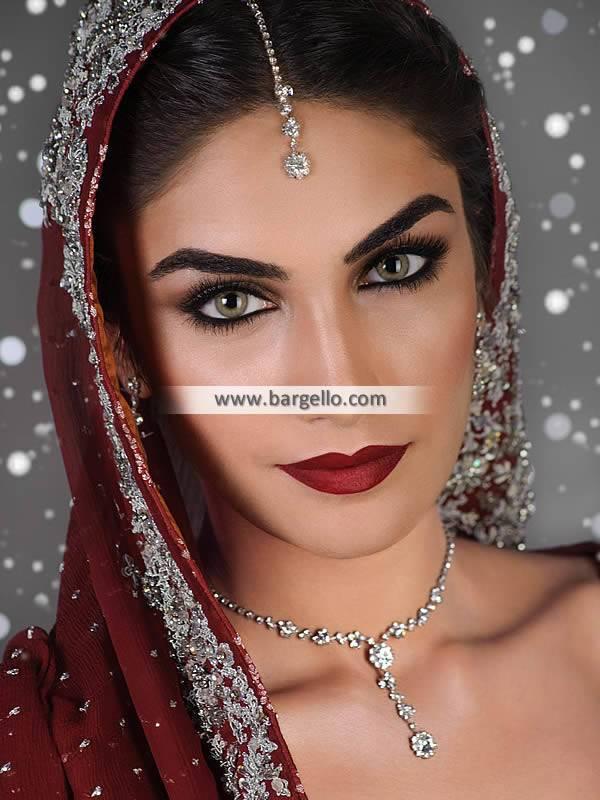 Artificial Diamond Like Bridal Jewellery Sets Pakistan in Sterling Silver
