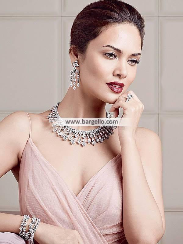 Artificial Diamond Necklace, Diamond Necklace Jewellery, Artificial Diamond Jewellery Set, Artificial Diamond Earring, Hazoorilal Diamond Sets, Hazoorilal Jewellery Sets