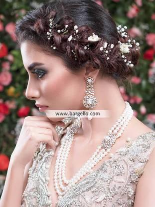 Three Layer Pearl Mala, Three Layer Pearl Mala with Earrings, Pearl Mala Pakistan, Pearl Necklace Pakistan, Pearl Jewellery Sets, with Earrings, Fatima Nasir Jewellery Sets,