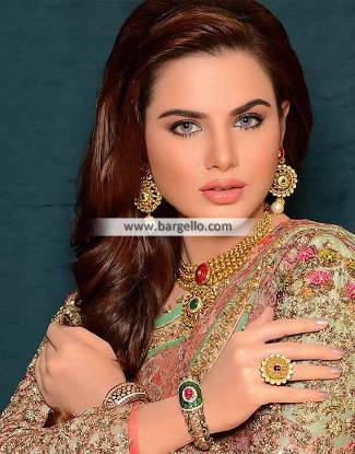 Party Wear, Kundan Jewellery, Artificial Kundan Jewellery, Imitation Kundan Jewellery, Gold Plated Jewellery Sets, Pakistani Jewellery Sets, Indian Jewellery Sets, Ruby Stones, Emerald Stones,