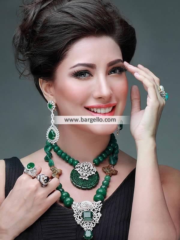 Emerald Beads Mala, with Necklace Jewellery Newcastle, Necklace Jewellery England, Necklace Jewellery UK, Pakistani Jewellery Sets, Beaded Mala, Emerald Jewellery Sets
