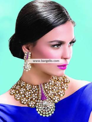 Pakistani Designer Choker and Earrings Jewellery Sets Denny UK Imitation Jewellery Sets