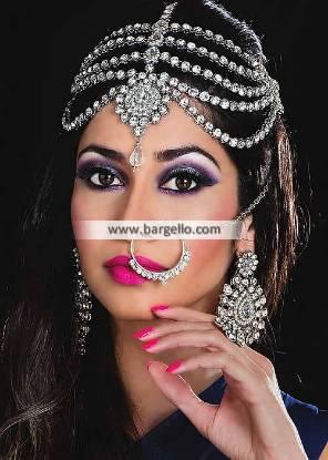 Silver Matha Patti Jewellery Set Southall UK Traditional Pakistani Jewellery