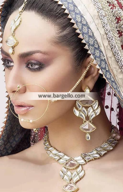 Gold Plated Zircon Jewellery Set Cardiff UK Traditional Pakistani Designer Jewellery Sets