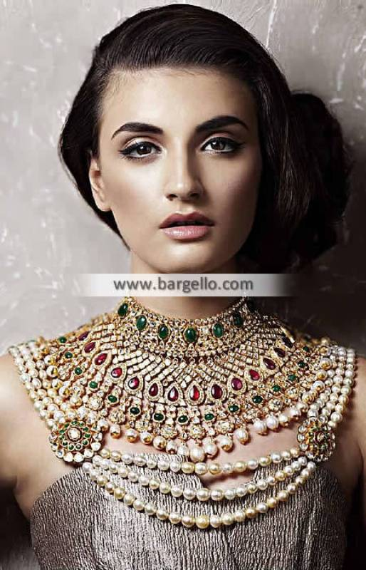 Luxurious Bridal Choker Necklace Jewelry Sets Cambridge UK Artificial Jewellery