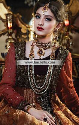 Gold Plated Bridal Choker Jewellery Set Stockholm Sweden Pakistani Imitation Bridal Set