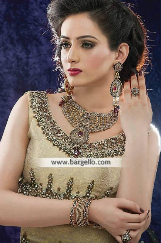 Heavy Wedding Jewellery Set in Silver Doha Qatar Gold Plated Silver Jewellery Sets