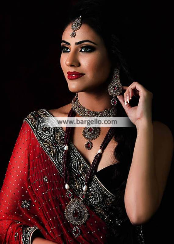Fancy Gold Plated Jewelry Set Long Rani Haar Dammam Saudi Arabia Costume Jewelry