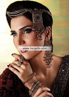 Gold Plated Bridal Jewellery Set Riyadh Saudi Arabia Jewellery Artificial Jewellery Set Pakistan