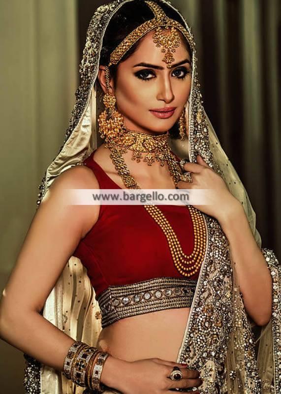 Classic Bridal Choker Necklace Set Manchester UK Bridal Maang Tika Pakistan