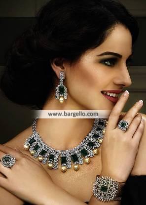 Delicate Jewellery Set Oldham UK Party Wear Artificial Jewellery Sets Pakistani
