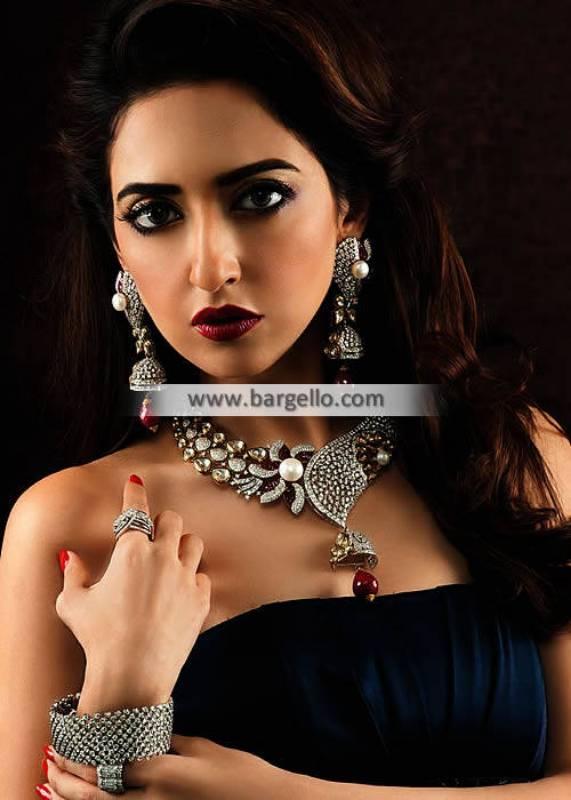Traditional Kundan Gemstone Jewellery Design Formal Jewellery Designs Party Wear Jewellery Designs