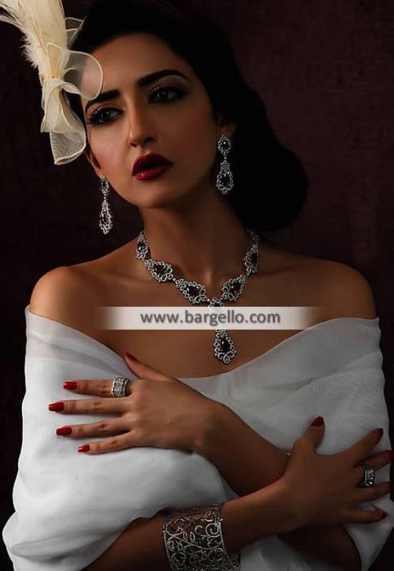 Indian Pakistani Attractive Diamond like Jewelry Set Al-Rayyan Qatar Evening Jewelry Sets