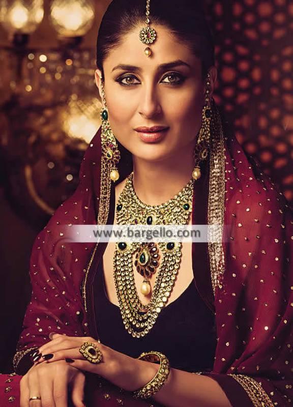 Heavy Bridal Jewellery Sets for Nikah Doha Qatar Artificial Bridal Jewelry Sets