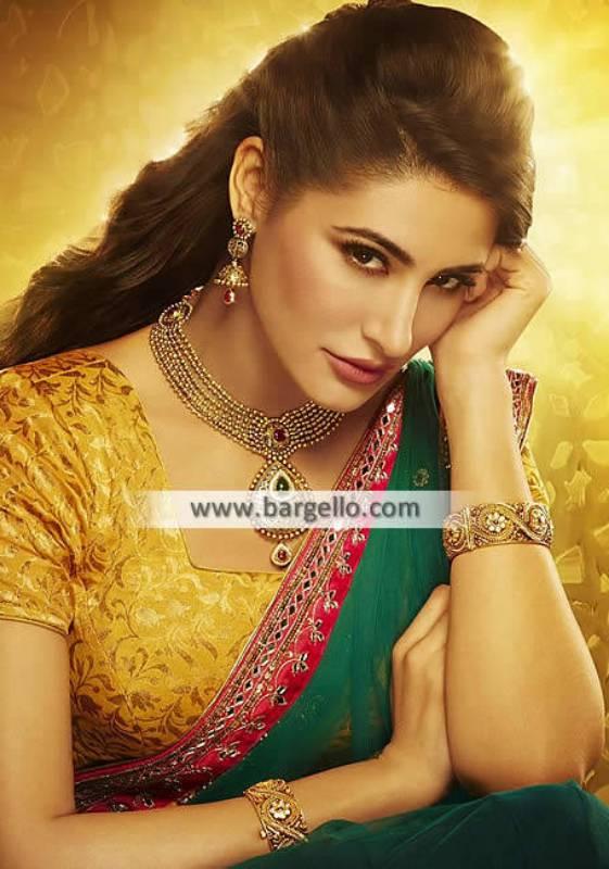 Indian Pakistani Golden Jewellery Sets Jeddah Saudia Arabia Jewellery Sets Evening Social Events