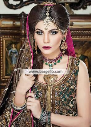 Emerald Zircons Pakistani Bridal Jewellery Sets Colorado Springs Colorado USA