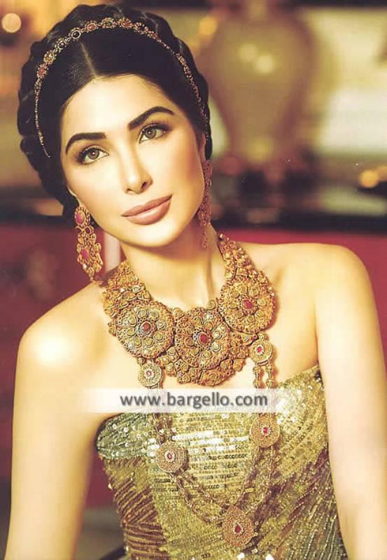 Gold Plated Rani Haar Wedding Jewellery Sets Springfield Washington DC USA