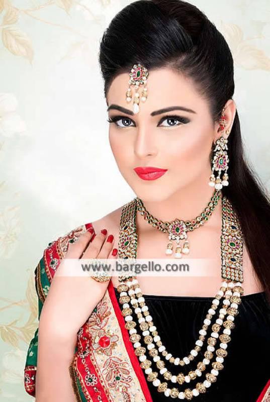Pakistani Rani Haar Wedding Jewellery 2015 Sets Bethesda Washington DC US
