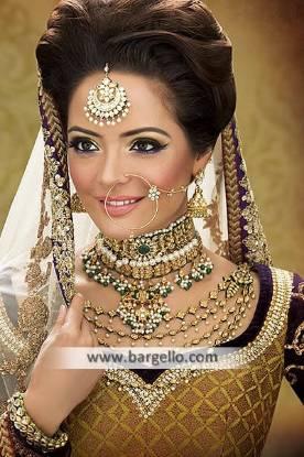 Fabulous Looking Kundan Bridal Jewellery Sets Kalamazoo Michigan US Emerald Zircons Jewellery Sets