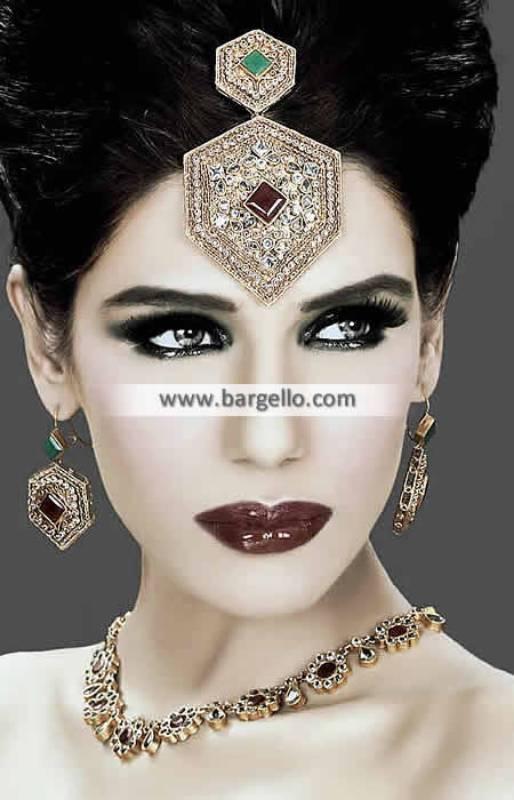 Gorgeous Indian Party Jewellery Sets Rapids Illinois US Kundan Ruby Emerald Jewellery Sets