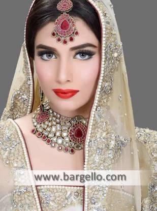 Stunning Asian Wedding Jewellery Sets Eaton Ohio US Kundan Ruby Gemstone Jewellery Sets