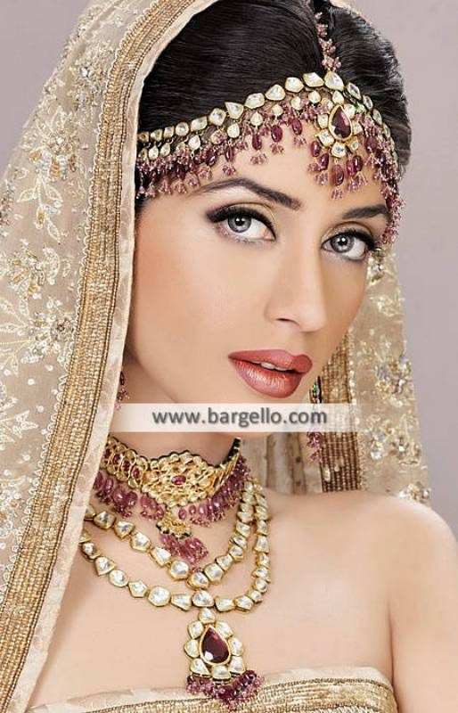 Alluring Pakistani Wedding Jewellery Sets Ann Arbor Michigan Kundan Gemstone Jewellery Sets