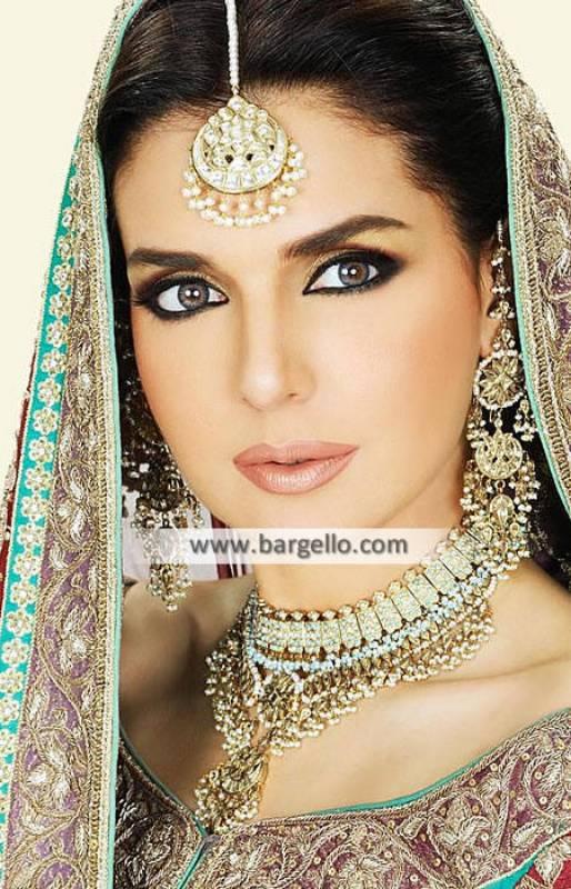 Gorgeous Pakistani Bridal Jewellery Sets Iowa US Gemstone and Zircon Jewellery Sets