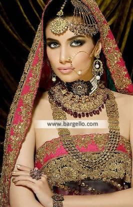 Heavy Pakistani Bridal Kundan Jewellery Sets Arizona USA Kundan Ruby Pearls Jewellery Sets