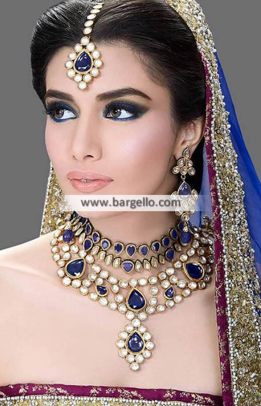 Purple Velvet Kundan Jewellery Set Necklace Sets Wichita Kansas US Wedding Jewellery Sets