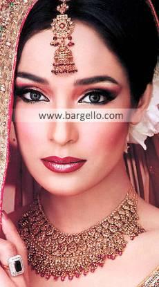 Glamorous Pakistani Wedding Jewellery Sets Baltimore Maryland USA Zircons Ruby Kundan Sets